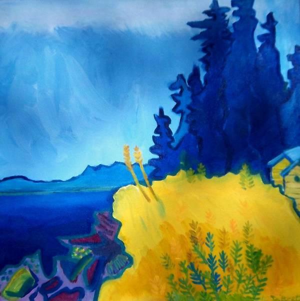 Seascape Art Print featuring the painting Pemaquid Point by Debra Bretton Robinson