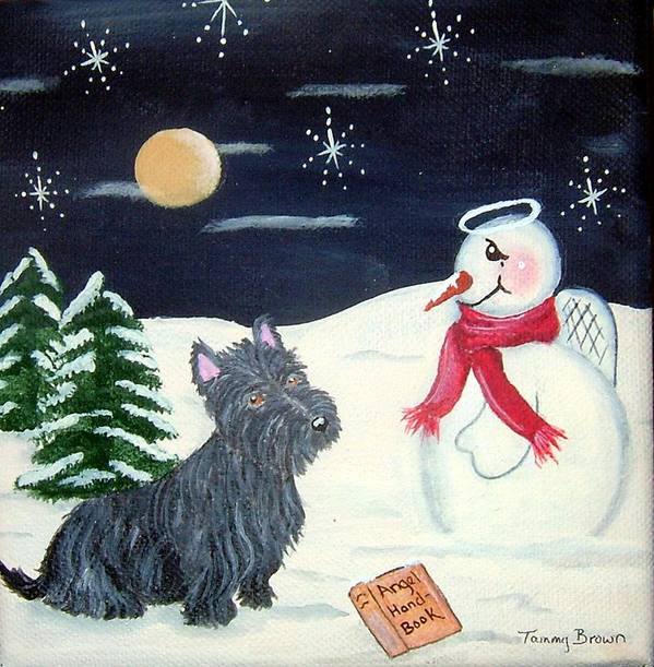 Dog Art Print featuring the painting Becoming An Angel by Tammy Brown