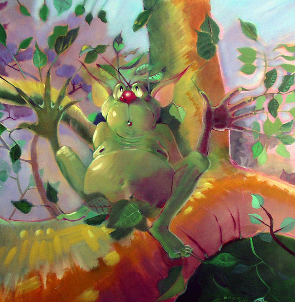 Fantasy Art Print featuring the painting Treeman by Patrick McClintock