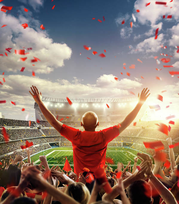 Event Art Print featuring the photograph American Football Fans At Stadium by Dmytro Aksonov