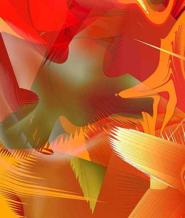 Abstract Art Print featuring the digital art 2013-01-29-06c4 by Peter Shor