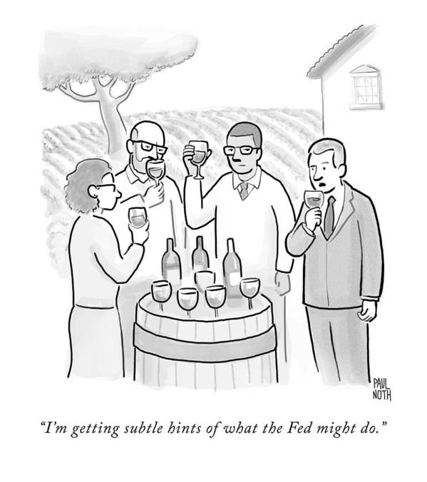 Wine Tasting Art Print featuring the drawing A Group Sample Wine At A Wine Tasting Vineyard by Paul Noth