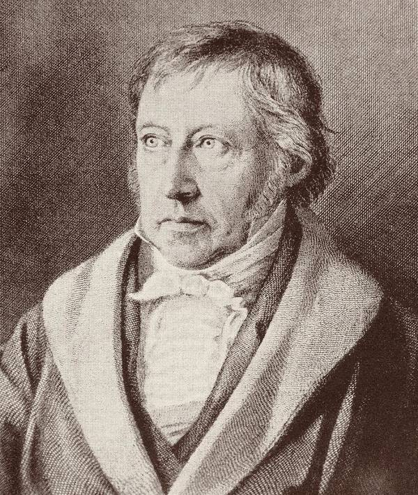 Male; Portrait; Intellectual; Half Length Art Print featuring the drawing Georg Hegel by Anonymous