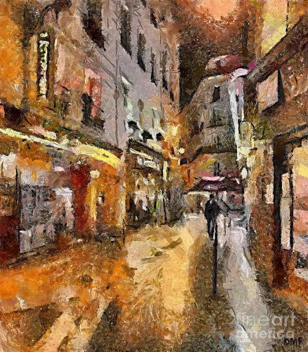Cityscape Art Print featuring the painting Paris St. Germain by Dragica Micki Fortuna