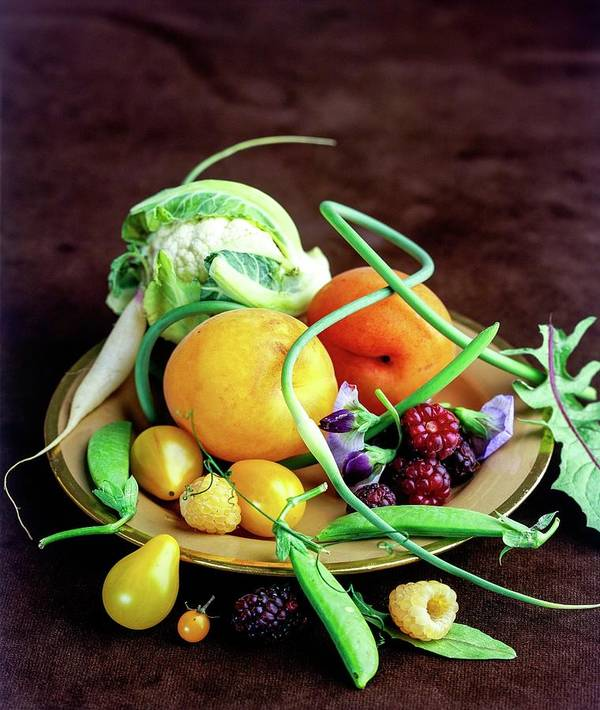 Fruits Art Print featuring the photograph Seasonal Fruit And Vegetables by Romulo Yanes