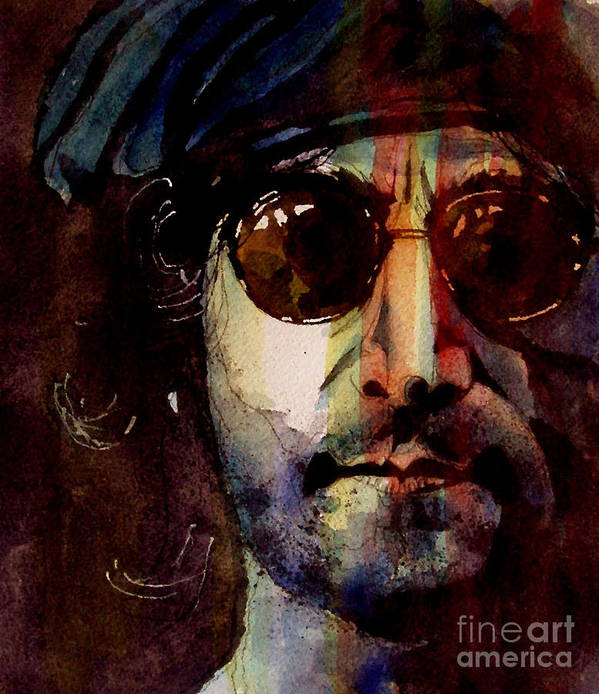 John Lennon Art Print featuring the painting Working Class Hero by Paul Lovering