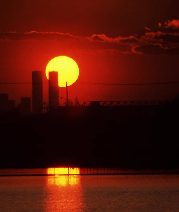 Twin Art Print featuring the photograph Twin Towers At Sunset by Paul Lamonica