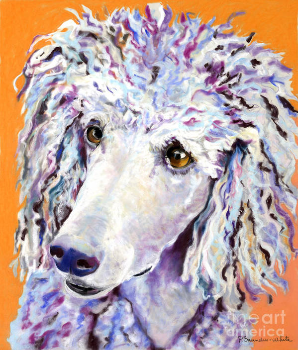 Standard Poodle Art Print featuring the pastel Above The Standard  by Pat Saunders-White