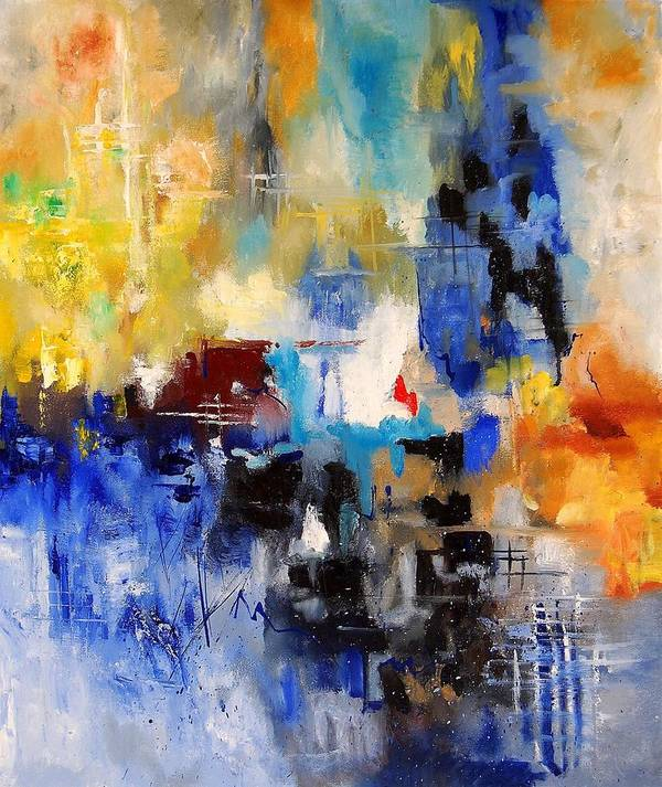 Abstract Art Print featuring the painting Abstract 6791070 by Pol Ledent