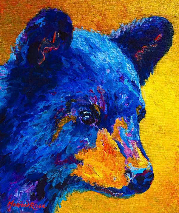 Black Bear Cub 2 Art Print By Marion Rose
