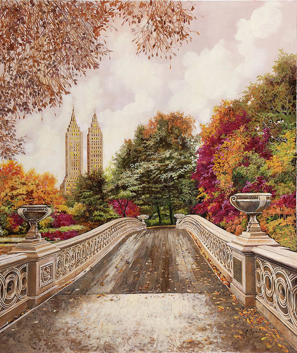 New York Art Print featuring the painting Central Park by Guido Borelli