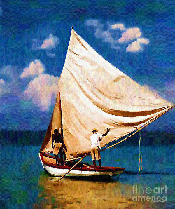 Diane Berry Art Print featuring the painting Gentle Winds by Diane E Berry