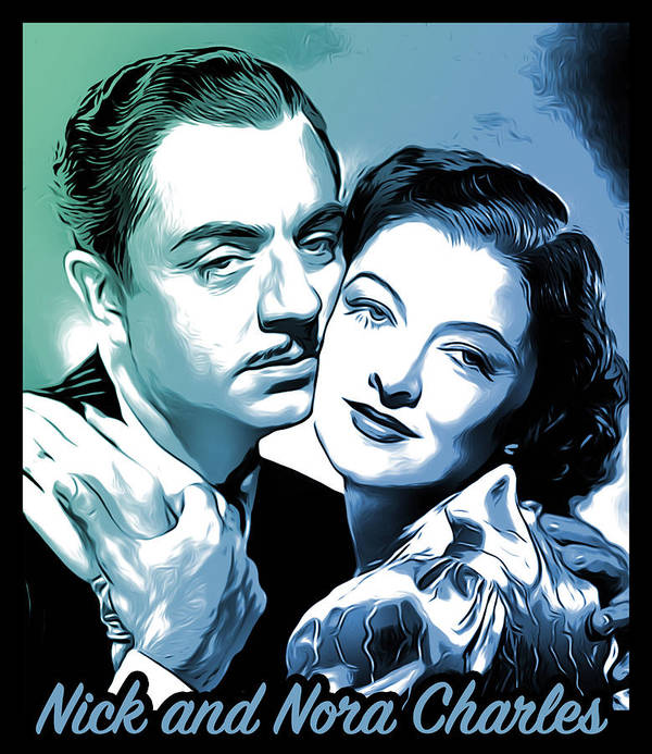 William Powell Art Print featuring the digital art Nick and Nora by Greg Joens
