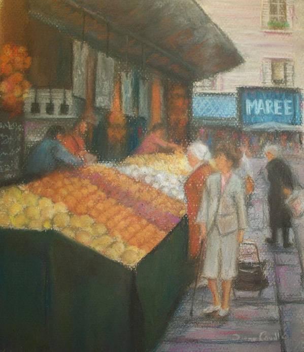 Paris Art Print featuring the pastel Paris Marketplace II by Diane Caudle