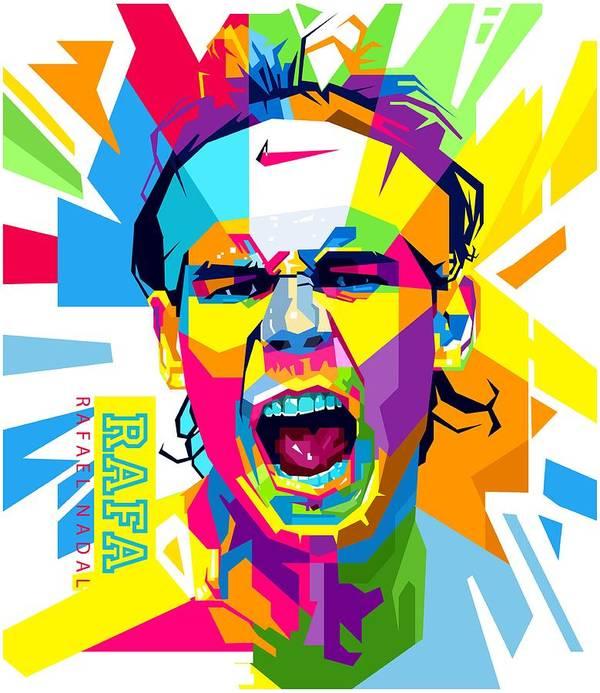 Rafael Nadal Art Print By Andree Soka