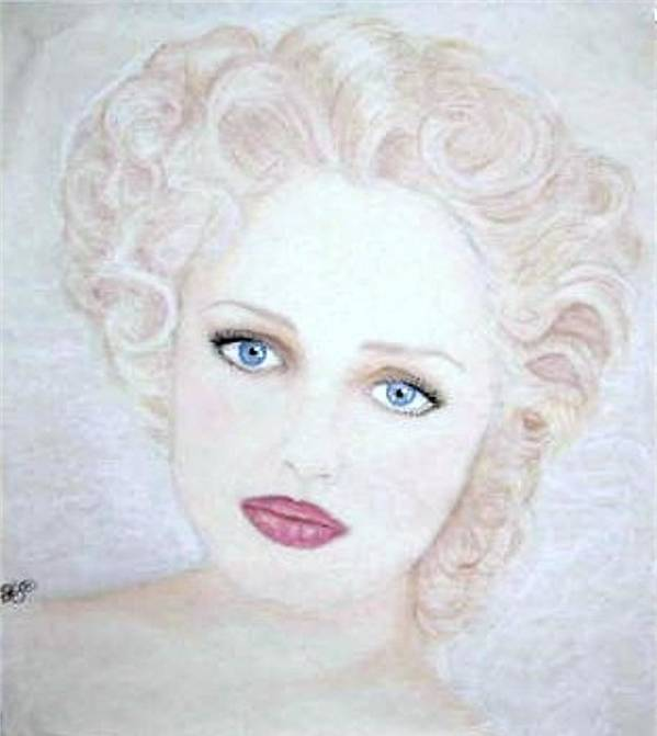 Face Art Print featuring the drawing Virginia by Scarlett Royal