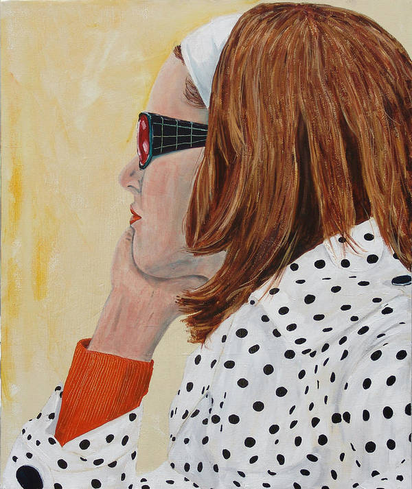 Kevin Callahan Art Print featuring the painting Woman on the Boat by Kevin Callahan