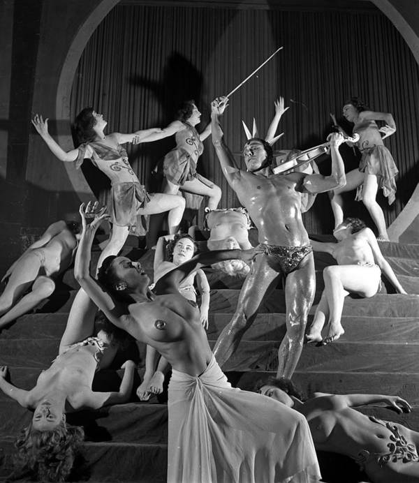Music Art Print featuring the photograph England. 1949. French Dance Troupe Les by Popperfoto