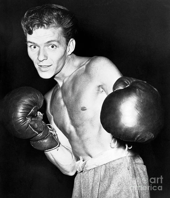 People Art Print featuring the photograph Frank Sinatra In Boxing Pose by Bettmann