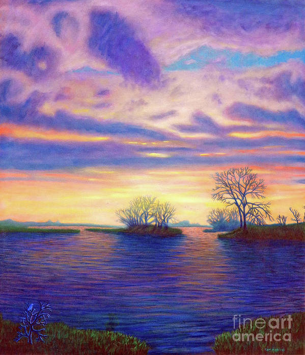 Landscape Art Print featuring the painting Hearts And Voices by Brian Commerford