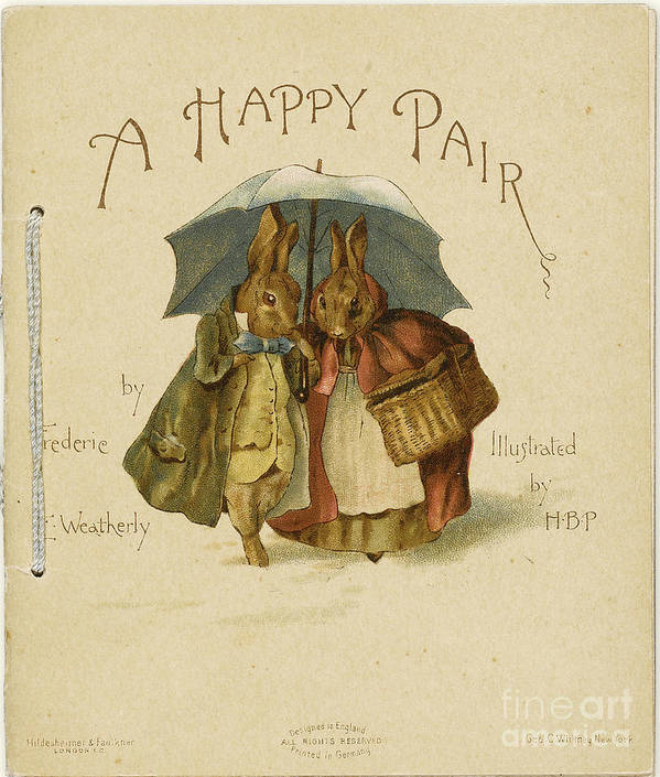 Pair Art Print featuring the drawing Illustration To A Happy Pair by Heritage Images