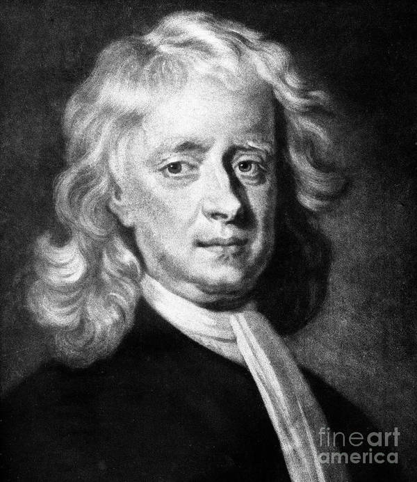 Physicist Art Print featuring the drawing Isaac Newton 1642-1727, English by Print Collector