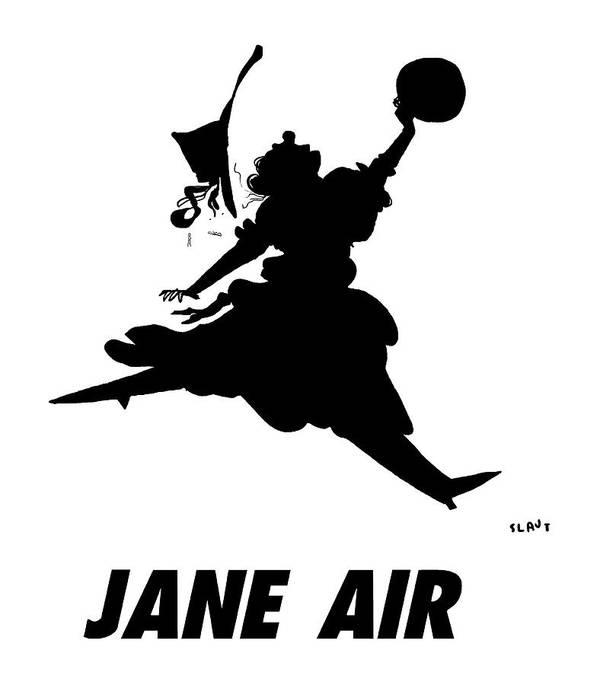 Jane Air Art Print featuring the drawing Jane Air by Sara Lautman