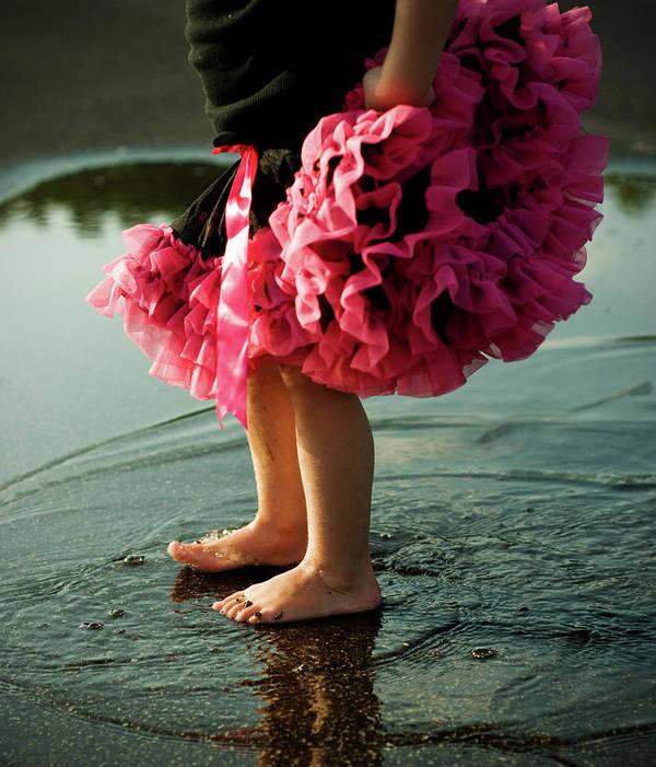 Toddler Art Print featuring the photograph Little Girls Feet Splashing And Dancing by Ssj414
