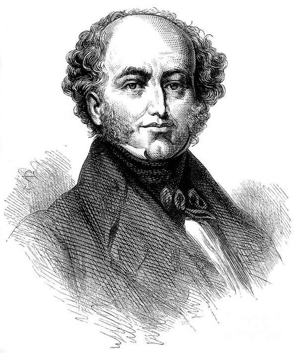Engraving Art Print featuring the drawing President Van Buren 1782-1862, American by Print Collector