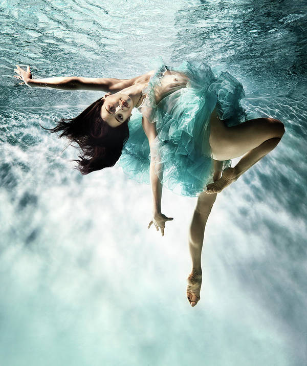 Ballet Dancer Art Print featuring the photograph Underwater Ballet by Henrik Sorensen