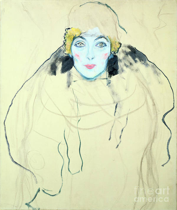 People Art Print featuring the drawing Womans Head Frauenkopf, 1917. Artist by Print Collector