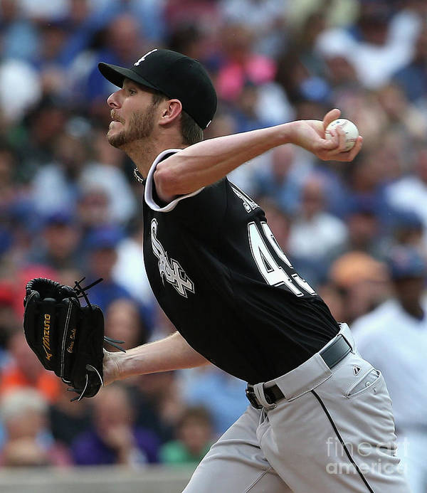 Three Quarter Length Art Print featuring the photograph Chris Sale by Jonathan Daniel