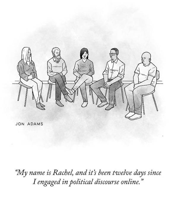 My Name Is Rachel Art Print featuring the drawing My Name Is Rachel by Jon Adams