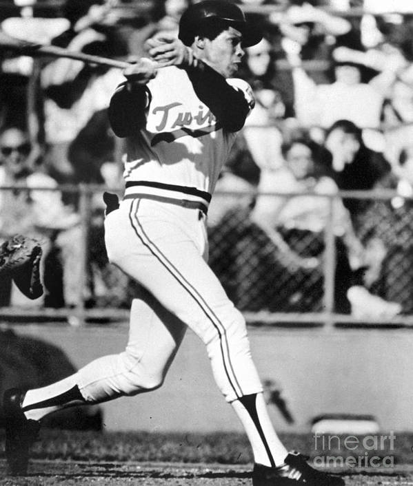American League Baseball Art Print featuring the photograph Rod Carew by National Baseball Hall Of Fame Library