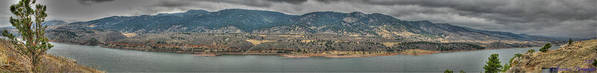 Horsetooth Reservoir Art Print featuring the photograph Horsetooth Reservoir Panoramic Hdr by Aaron Burrows