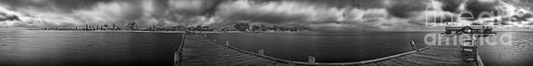 Panorama Art Print featuring the photograph Historic Anna Maria City Pier In Infrared by Rolf Bertram