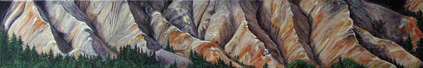 Mountains Art Print featuring the painting Marble Ridge by Elaine Booth-Kallweit