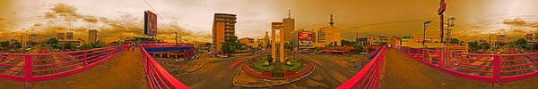 Quezon City Welcome Rotonda Art Print featuring the photograph 6x1 Philippines Number 332 Welcome Rotonda Quezon City Manila by Rolf Bertram