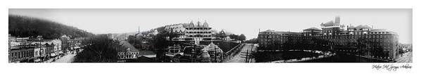 Panoramic Art Print featuring the photograph Hot Springs Arkansas Panoramic by Retro Images Archive