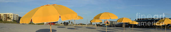 Umbrellas Art Print featuring the photograph Beach Umbrellas by Timothy OLeary