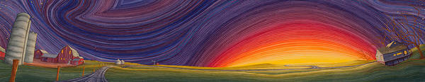 Great Plains Art Art Print featuring the painting Powhatten II by Scott Kirby