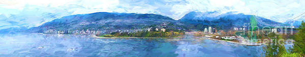 Skyline.west Vancouver Art Print featuring the painting West Vancouver by Jim Hatch