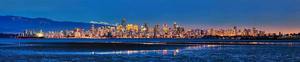 Vancouver Art Print featuring the photograph Downtown Vancouver From Spanish Banks Beach by Alexis Birkill