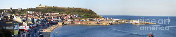 Architecture Print featuring the photograph Scarborough Panorama by Jane Rix