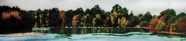 Landscape Art Print featuring the painting Fort Toulouse Coosa River by Beth Parrish