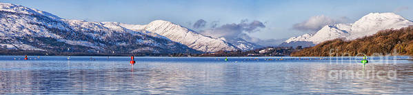 Balloch Print featuring the photograph Loch Lomond Panorama by Antony McAulay