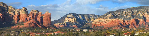 Landscape Print featuring the photograph Sedona Arizona Panoramic by Mike McGlothlen