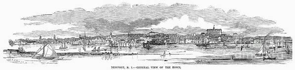 1853 Art Print featuring the photograph Newport, 1853 by Granger