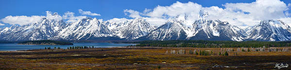 Grand Teton National Park Art Print featuring the photograph Teton 2012 Panorama Le by Greg Norrell