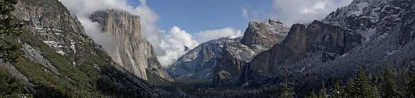 Yosemite Art Print featuring the photograph Yosemite Valley Panoramic From Tunnel View by Joseph Wilson
